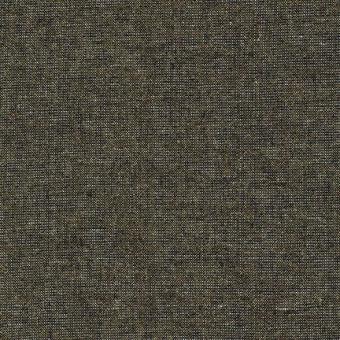Schwarz-Pfauenfeder-Schimmer - Weicher Leinen & Baumwollstoff - Celestial Essex Yarn Dyed Metallic Patchworkstoff
