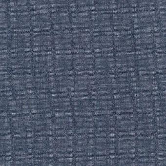 Dunkelblau-Silber Schimmer - Weicher Leinen & Baumwollstoff - Midnight Essex Yarn Dyed Metallic Patchworkstoff