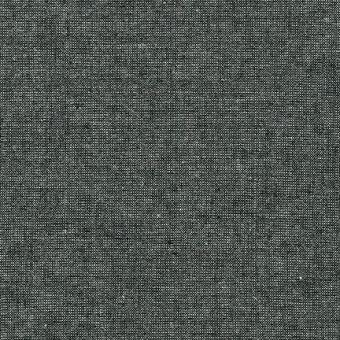 Schwarz-Silber Schimmer - Weicher Leinen & Baumwollstoff - Ebony Essex Yarn Dyed Metallic Patchworkstoff