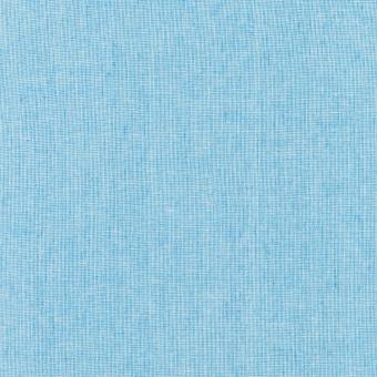 Paris Blue Essex Yarn Dyed Leinen & Baumwollstoff - Hellblau-Wollweiß - Weicher Patchworkstoff