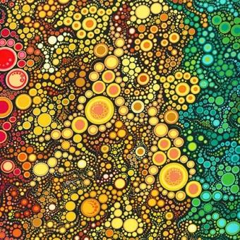 Effervescence Bright Gradation Farbverlauf  - Sprudelnde Blasen Regenbogen Kaufman