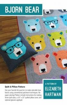 Süßer Bären Quilt - Bjorn Bear Pattern by Elizabeth Hartman - Patchworkdecke Schnittmuster