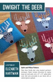 Süßer Rentier Quilt - Dwight the Deer Pattern by Elizabeth Hartman - Patchworkdecke Schnittmuster