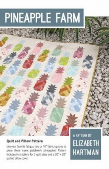 Ananas Quilt - Pineapple Farm Pattern by Elizabeth Hartman - Patchworkdecke Schnittmuster