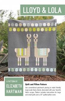 Lloyd & Lola Lamas Quilt - Llama Pattern by Elizabeth Hartman - Patchworkdecke Alpakas Schnittmuster