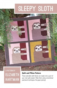 Süßer Faultier Quilt - Sleepy Sloth Pattern by Elizabeth Hartman - Patchworkdecke Schnittmuster
