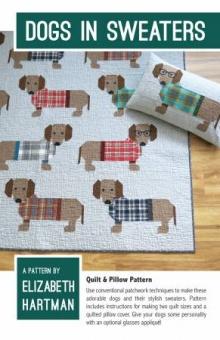 Süßer Dackel Quilt - Dogs in Sweaters Pattern by Elizabeth Hartman - Patchworkdecke Schnittmuster