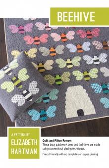 Bienenstock & Bienchen Quilt - Beehive Pattern by Elizabeth Hartman - Patchworkdecke Schnittmuster