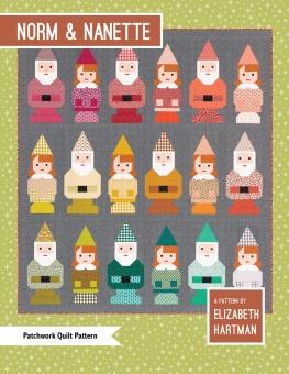 Norm & Nanette Patchworkdecke - Wichtel Quilt Pattern by Elizabeth Hartman