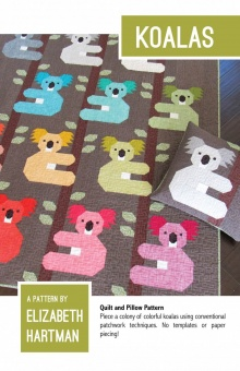 Süßer Koala Quilt - Koalas Pattern by Elizabeth Hartman - Patchworkdecke Schnittmuster