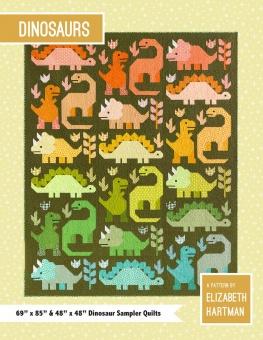 Dinosaurs Pattern by Elizabeth Hartman - Dinosaurier Patchworkdecke - Quilt Schnittmuster mit Dinos