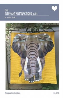 The Elephant Abstractions Quilt  - The Jungle Abstractions Elefanten Quilt by Violet Craft - Anleitung / Schnittmuster