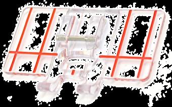 Stickfuß mit Führung - Klarsichtfuß & Bordürenführung - ELNA Border Guide Foot