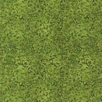 Goldene Blätter auf Grün Metallicstoff - Evergreen Metallic Fusions Weihnachtsstoff