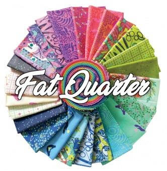 25 Fat Quarter HomeMade Tula Pink Designerstoffkollektion - FreeSpirit Patchworkstoffe Stoffpaket