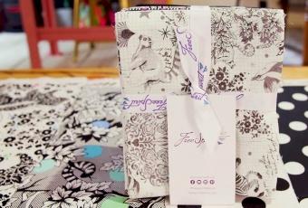 13er Fat Quarter Stoffpaket - Linework Tula Pink Designerstoffe - Schwarz-Weiße FreeSpirit Patchworkstoffe