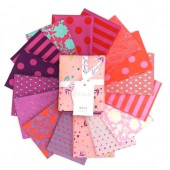 Flamingo Fat Quarter Stoffpaket - 16 FQs True Colors Patchworkstoffe - Tula Pink Designerstoffe