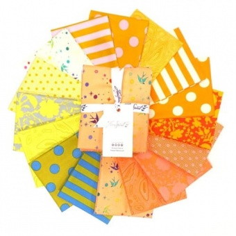 Goldfish Fat Quarter Stoffpaket - 16 FQs True Colors Patchworkstoffe - Tula Pink Designerstoffe