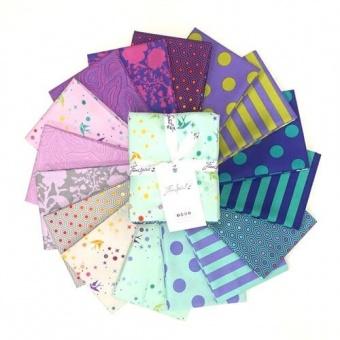 Peacock Fat Quarter Stoffpaket - 16 FQs True Colors Patchworkstoffe - Tula Pink Designerstoffe