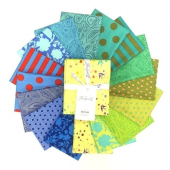Starling Fat Quarter Stoffpaket - 16 FQs True Colors Patchworkstoffe - Tula Pink Designerstoffe