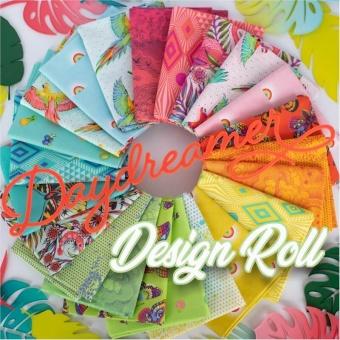 40er Design Roll Stoffschnecke - Daydreamer Tula Pink Designerstoffe - Tropische FreeSpirit Patchworkstoffe - VORBESTELLUNG! ca. November 2021
