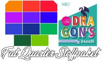 "Tula Pink's ""Dragon's Breath"" Mythical Designer Solids Unistoffe - 11 FQs Patchworkstoffe - Fat Quarter Stoffpaket - VORBESTELLUNG ca. Ende August 2021"