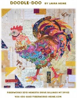 Doodle Doo Hahn Schnittmuster/ Collage Pattern/ Applique Laura Heine