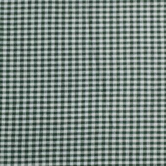 Dunkelgrün - Weiß - 5mm mittleres Vichy Karo Baumwollstoff