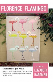 Florence Flamingo Quilt Pattern by Elizabeth Hartman - Patchworkdecke Schnittmuster