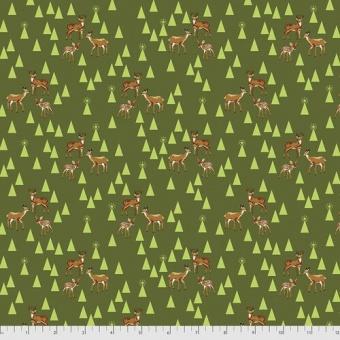FLANELL! Pine Fresh Road Trip Rehe & Hirschstoff - Tula Pink Designerstoff - Holiday Homies Flannels Weihnachtsstoffe - VORBESTELLUNG JUNI 2021!