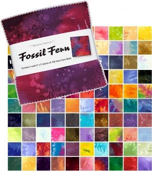 JUMBO PACK Fossil Ferns 100 Charm Squares Paket - Benartex Basicstoffe-Sammlung