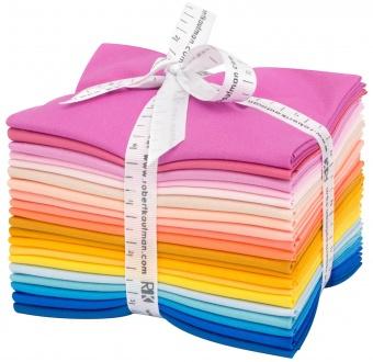 Then came June Fat Quarter Stoffpaket - Kona Cotton Solids Unistoffe Designer's Palette - 20 FQs