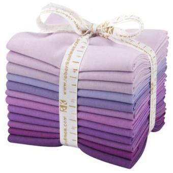 Lavender Fields Fat Quarter Stoffpaket - Kona Cotton Solids Unistoffe