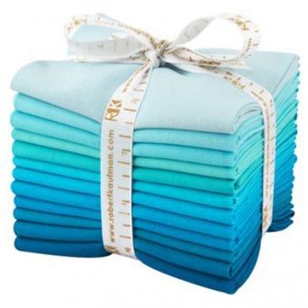 Pool Party Fat Quarter Stoffpaket - Kona Cotton Solids Unistoffe