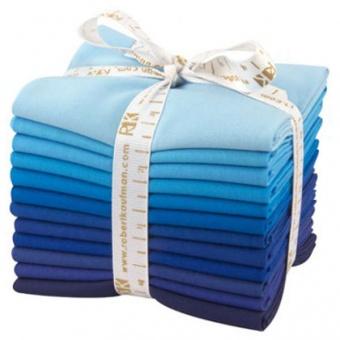 Sky Gazer Fat Quarter Stoffpaket - Kona Cotton Solids Unistoffe
