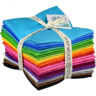 21 FQ Shadow Play Brights  - Maywood Studios Fat Quarter Paket