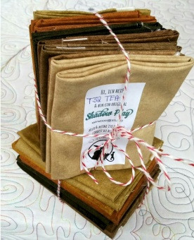 10 FQ Shadow Play Beige & Browns - Maywood Studios Fat Quarter Paket Brauntöne & Beigenuancen