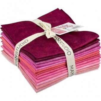10 FQ Shadow Play Pinks - Maywood Studios Fat Quarter Paket Rosatöne & Pinknuancen
