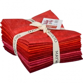 10 FQ Shadow Play Reds - Maywood Studios Fat Quarter Paket Rottöne