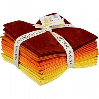 10 FQ Shadow Play Orange & Yellows - Maywood Studios Fat Quarter Paket  Gelbtöne & Orangenuancen