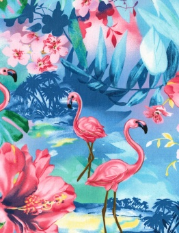 Flamingo Motivstoff - Tropical Flamingos - Timeless Treasures Patchworkstoff