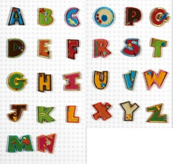Aufbügelbare Buchstaben - Original Fun Letters Alphabet Bügelapplikationen  E