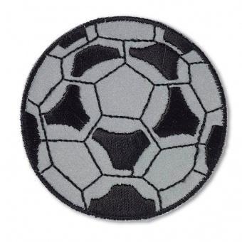 Fußball Applikation mit relektierendem Hintergrund - Reflexfolien-Fußball-Stickerei Bügelapplikationen - PRYM