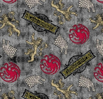 """Hauswappen Game of Thrones Stoff - Original HBO Lizenzstoff """"Power Play"""""""