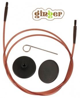 """Braune, auswechselbare Nadelseile """"Ginger"""" für Knit Pro aufschraubbare Rundstricknadeln Stricknadelspitzen 120 cm / 47 inch"""