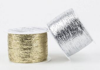 VIELE FARBEN Metallic-Beilauffaden - Wooly Hugs Glitzer Strickgarn - Beilaufgarn im Metallic Look von Veronika Hug - Verschiedene Farben!