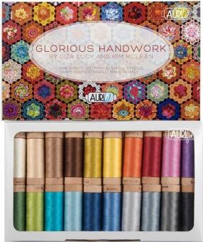 Glorious Handwork Garnkollektion Aurifil 80wt Mako Cotton Baumwollgarn - Kaffe Fassett Collective Thread Collection by Liza Lucy & Kim McLean