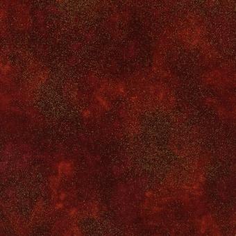 Roter Weihnachtsstoff mit goldenem Metallicglanz - Spice Red Shimmer Speckles Collection Weihnachstoffe - Timeless Treasures