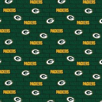 Green Bay Packers Motivstoff - Original NFL Lizenzstoff - American Football Meterware