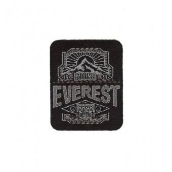 Mount Everest Flicken - Schwarz-Grauer Unisex Aufnäher / Bügelapplikation
